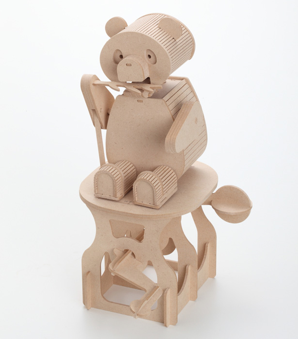 Golden Pin Design Award 2014 Winners - Modelshop Wooden ARToy- Panda