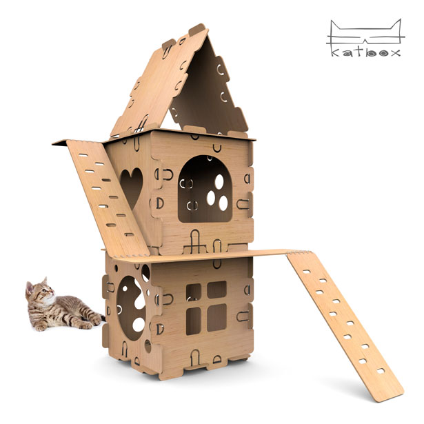 The Golden Pin Design Award and Golden Pin Concept Design Award 2019 - KATBOX is modular playhouse designed for kittens by Steamengine Studio