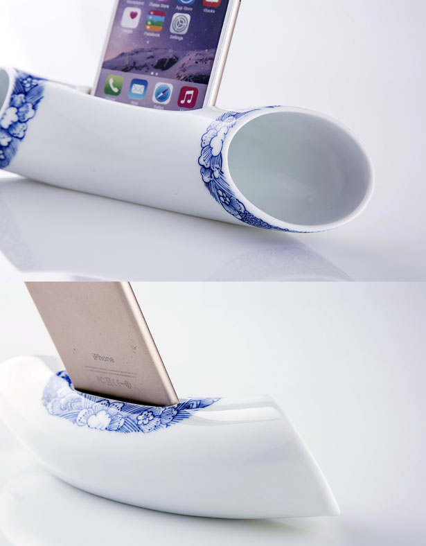 The Voice of CHINA - Resonance Speaker for iPhone Series by Hangzhou Zhiran Cultural & Creative Company Limited - Tuvie Top 10 Picks of Golden Pin Design Mark Winners for 2015