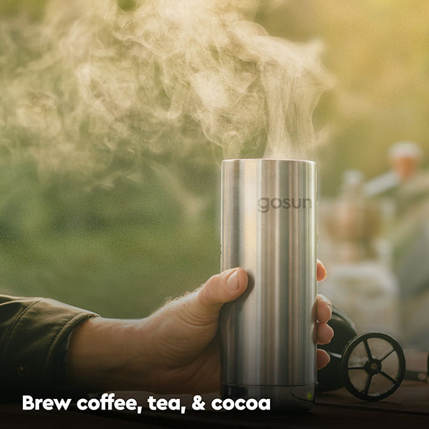 GoSun Brew - Coffee Mug with Integrated French Press, Brew Your Coffee Anywhere!