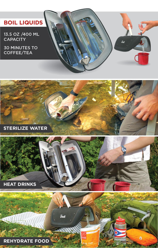 GoSun Go : Compact and Portable Solar Power Grill
