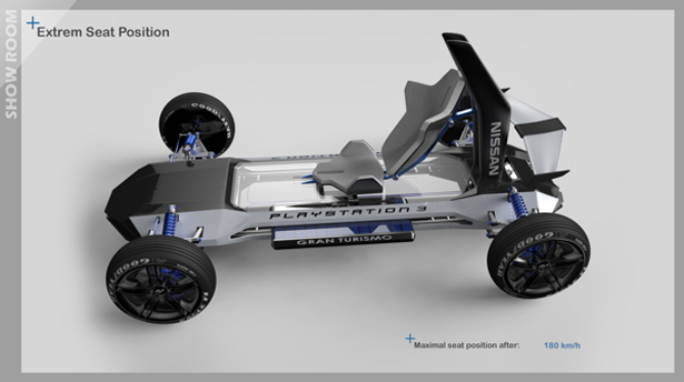 Gran Turismo E-motion Concept Racing Car by Frédéric Le Sciellour, Jérémy Sachot, Ishak Belhout, Julien Ancery