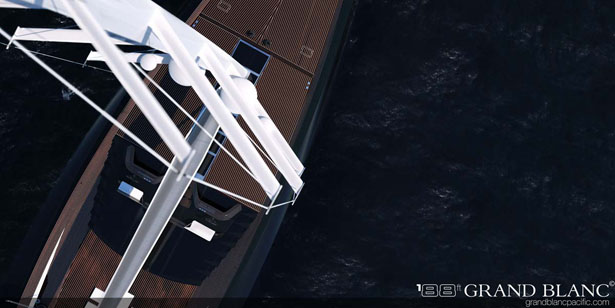 Grand Blanc Pacific 188ft., 122ft., and 111ft. Yacht Feature Pragmatic and Simple Design