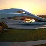 Rabat Grand Theatre in Bouregreg Valley by Zaha Hadid
