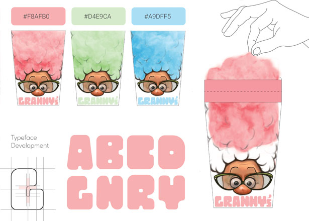 Granny's Cotton Candy Packaging Design by Priyal Patel