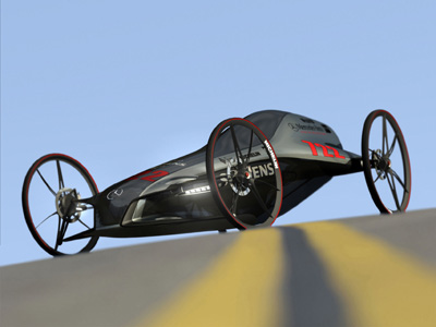 gravity racing car zero emission