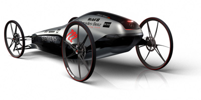 gravity racing car silbervogel
