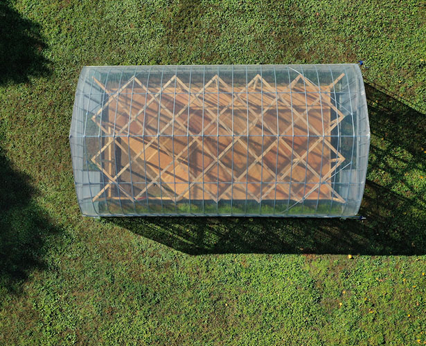 Green Base Workspace for Farming by UENOA Architects