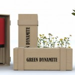 Green Dynamite Plant Pot by Miguel Silva