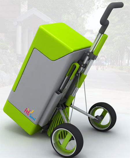 Green Fox Eco-Friendly Cleaning Cart-Designed to be Pride of Street Cleaners