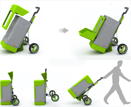 green fox eco-friendly cleaning cart