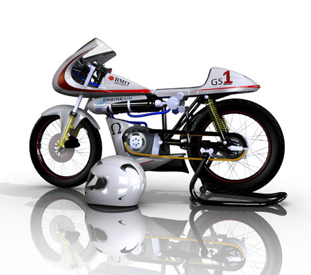 Green Speed Air Powered Motorcycle for Zero Pollution Effect