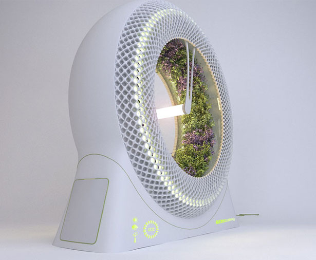 Green Wheel Rotary Hydroponic System by Libero Rutilo