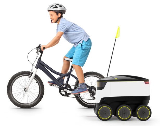 Small Cargo-Delivering Robot by Starship Technologies