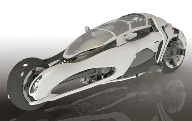 GRYPH-ONE Convertible Concept Motorcycle by Niklas Armada