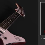 Electric Guitar Concept As Tribute To Johnny Winter and Gibson Firebird Guitar