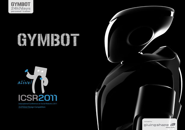 Gymbot Personal Trainer Robot by GivingShape