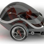 Gyro Two Wheeled Gyroscopically Stabilized Electric Vehicle by Carlos Pilonieta