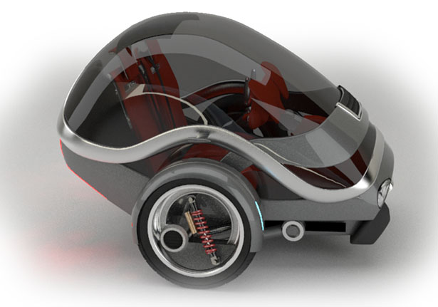 Gyro Two Wheeled Self Stabilizing Electric Vehicle by Carlos Pilonieta