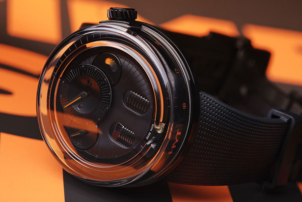 H0 Black Fluid Watch by HYT Watches
