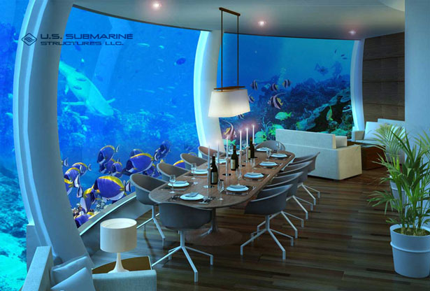 H2OME Undersea Residence Features Panoramic Undersea View ...