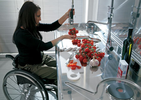 hability project wheelchair in a kitchen