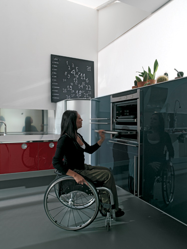 hability kitchen design for wheelchair