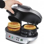 Hamilton Beach Dual Breakfast Sandwich Maker (25490A) for Easy and Quick Breakfast