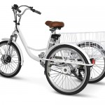 Electric Shopping Cruiser Bike with 250-watt Motor and Six-Gear Transmission