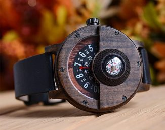Cool Handmade Compass Wood Watch Crafted from 100% Natural Walnut