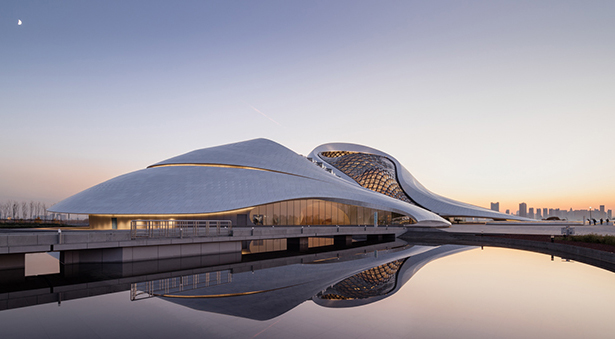 Futuristic Harbin Opera House Looks Like Sculpted by Wind and Water