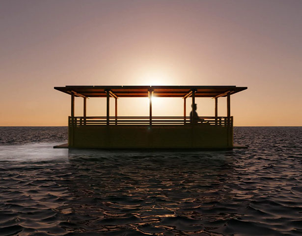 Hari Pontoon - Solar Powered Bamboo Water Taxi