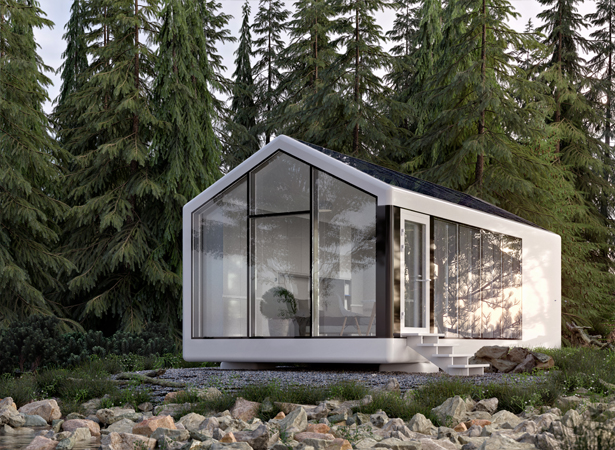 Haus.me 3D-Printed Fully Self-Sustainable Mobile House