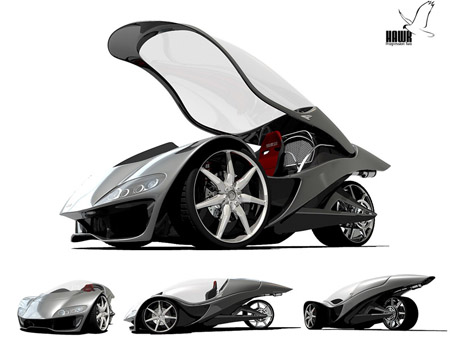 Hawk Concept : Single Seater Vehicle with Honda RC51 V-Twin 999cc Engine
