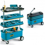 Hazet HZ166N Collapsible Tool Trolley Expands Vertically to Keep All Your Tools