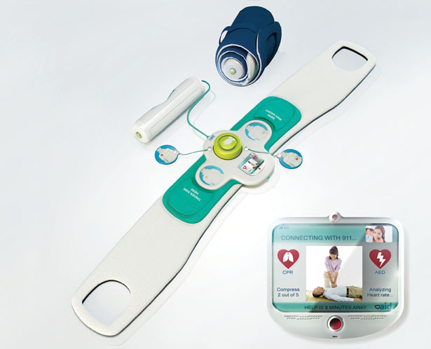Heart aid emergency response unit for household use by sahar madanat