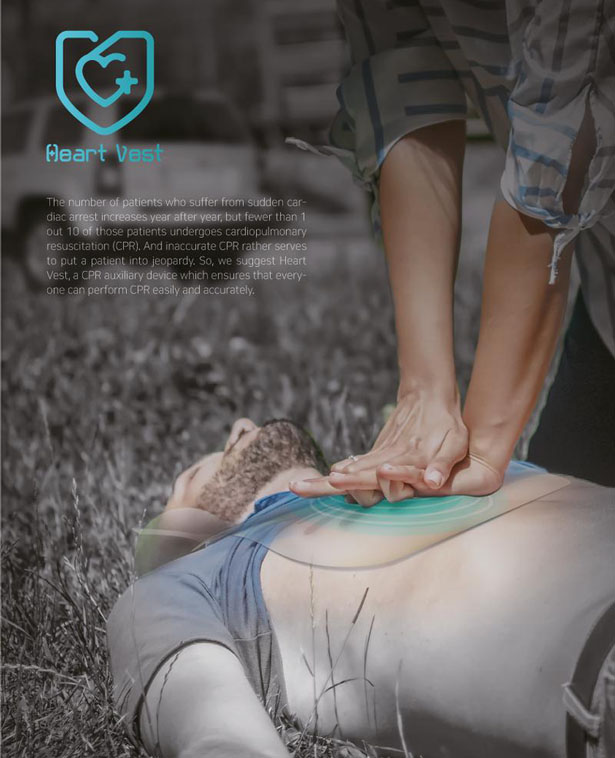 Heart Vest CPR Auxiliary Device by Kang Yejin and Kim Seyeon