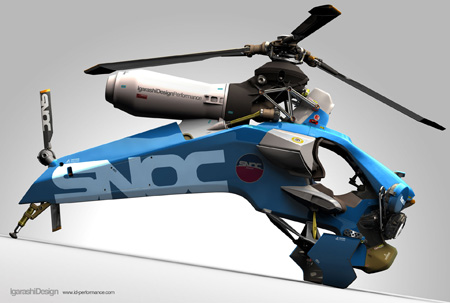 Single Seat Helicopter Design by Igarashi Design