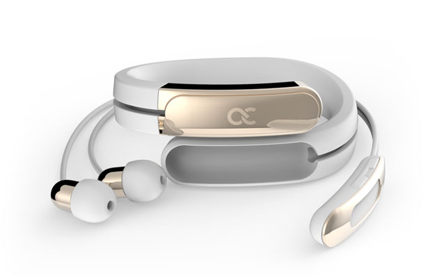 Helix Wearable Cuff with Stereo Bluetooth Earbuds by Ashley Chloe Inc.