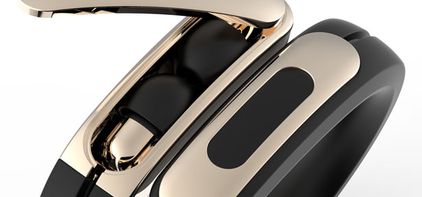 Helix Wearable Cuff with Stereo Bluetooth Headphones by Ashley Chloe Inc.