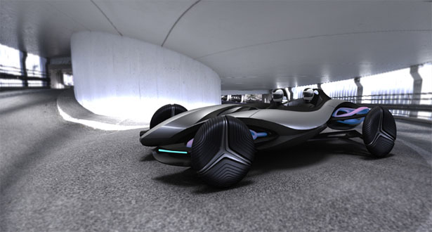 Helix Wind Generating Roadster
