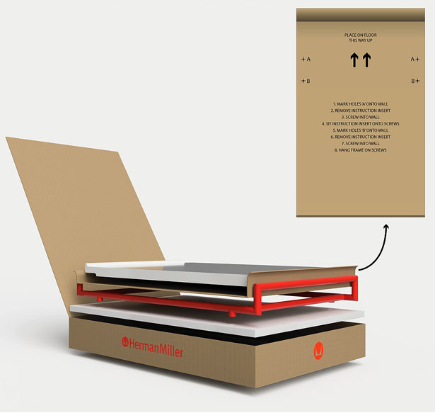 Incanti Wall-Mounted Desk Concept Proposal for Herman Miller by Will Davis Design