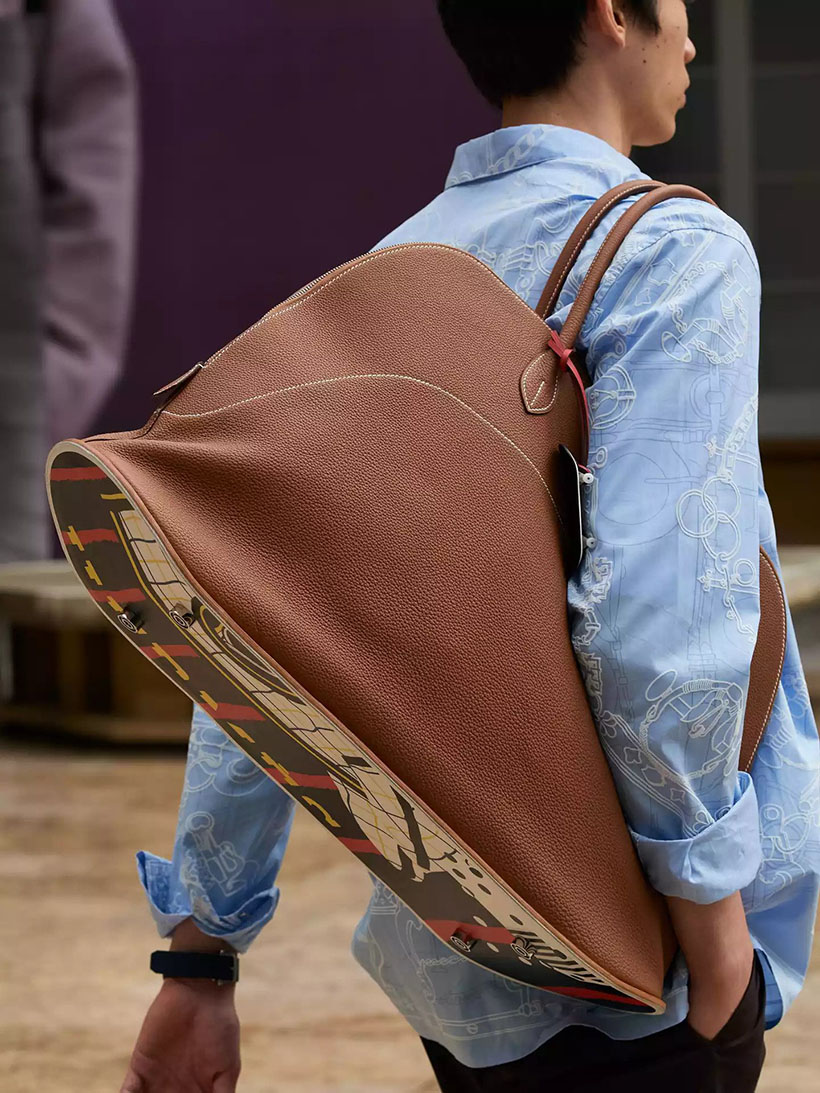 Hermès Has Released Skateboard Bolide Bag as Part of Its S22 Men's Summer 2022 Collection