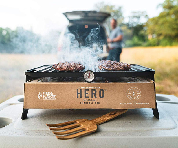 HERO Grill Portable Lightweight Charcoal Grilling System