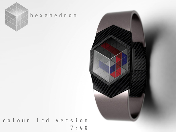Hexahedron Watch by Peter Fletcher