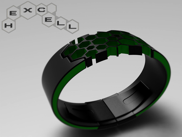 Hexcell Concept Watch by Peter Fletcher