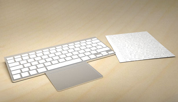 Hidden Touch Concept : Hidden Touchpad At The Back of Your Keyboard