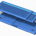 Modern Hidekey Compact Keyboard with Retractable Number Pad by Yeongseok Go