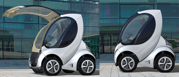 Hiriko Stackable Electric Citycar by MIT