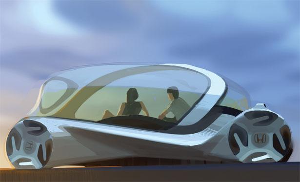 Honda CARpet : Futuristic Car Interior with Morphing Carpet